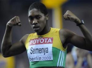 Caster Semenya celebra su victoria